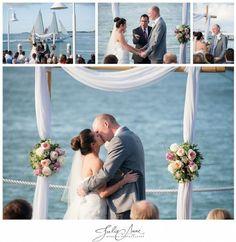 Whimsical waterside wedding at the Hyatt Key West by Julie Anne Wedding Photographer. #firstkiss #destinationwedding #weddingphotography #weddingphotographer #hyattkeywest #julieannephoto