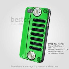 Jeep Wrangler green for iPhone 4/4S/5 iPod 4/5 Samsung Galaxy S2/S3/S4  | BestCover - Accessories on ArtFire
