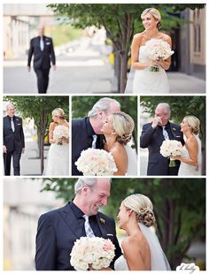 It's not just the groom who needs a picture of his reaction. The father of the bride does too.