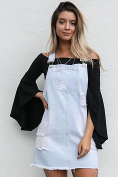 Austin Nights Denim Overall Dress City Outfits, Night Outfits, Fashion Outfits, Denim Skirt Outfits, Dress Outfits, Dresses, Vestidos Tumbler, Cool Summer Outfits, Trendy Outfits