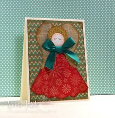 -- Christmas Angel by CassieT - Cards and Paper Crafts at Splitcoaststampers Christmas 2016, Christmas Angels, All Things Christmas, Christmas Cards, Christmas Ornaments, Dress Card, Angel Cards, Fun Challenges, Cute Cards