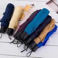 Umbrella Environmentally Friendly Household Supplies Lnnovative Solid Three Folding Sunny Umbrellas