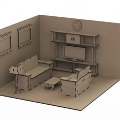 Dollhouse with Furniture – Laser Cut Plans