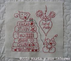 Marta y sus labores ... embroidery splendid sampler quilting