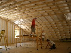 Curvco Prefab Steel Homes are easy to customize, residential do it yourself and the most energy efficient metal house kits for the lowest prices. Metal Building Kits, Metal Building Homes, Metal Homes, Quonset Hut Homes, Prefab Homes, Cabin Homes, Dome Home Kits, Metal Home Kits, Hut House