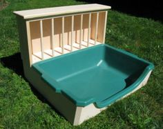 Rabbit Litter Box / Hay Feeder 1 Free by TheBlissfulBunny on Etsy                                                                                                                                                                                 More
