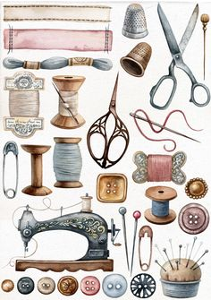 DIY decorating Vintage sewing kit, Vintage sewing dress, Vinta… – Awesome Knitting Ideas and Newest Knitting Models Sewing Art, Sewing Crafts, Sewing Projects, Sewing Ideas, Art Projects, Vintage Sewing Notions, Vintage Sewing Machines, Vintage Sewing Rooms, Sewing Spaces
