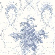 "Brewster Home Fashions La Belle Maison Verdant 33' x 20.5"" Floral and Botanical 3D Embossed Wallpaper Color: Blue"