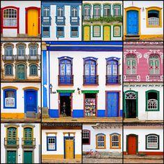 Doors and windows of Minas Gerais