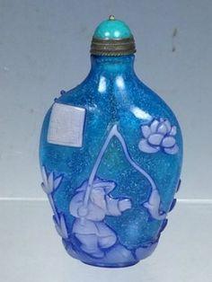 Multi Color Peking Glass Snuff Bottle