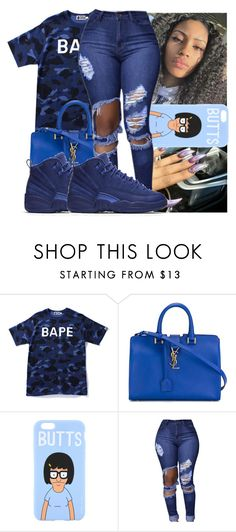 """😻🅿"" by kodakdej ❤ liked on Polyvore featuring A BATHING APE, Yves Saint Laurent and NIKE"
