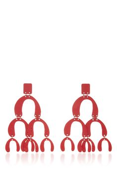 Large Earrings In Red by PROENZA SCHOULER for Preorder on Moda Operandi