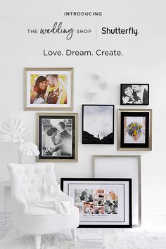 Keep your wedding memories close with unique wedding albums and custom keepsakes. Framed prints, desktop plaques, wood wall art, shadow boxes and glass prints are just a few of the ways you can bring your wedding photos to life on your walls or mantle. Add a monogram, your wedding date or some favorite pictures to decorative items including pillows, tea towels, blankets and table runners. Bring personalized style to your kitchen with custom wine glasses, mason jars, and more.