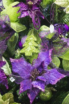 A Purple Christmas Purple Love, All Things Purple, Purple Lilac, Shades Of Purple, Green And Purple, Purple Stuff, Purple Christmas Decorations, Christmas Colors, All Things Christmas