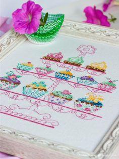 Cute cupcakes cross stitch