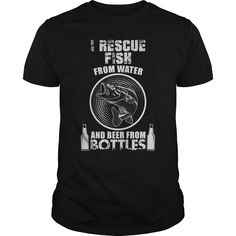I Rescue #Fish From Water And Beer From Bottles Great #Gift For Any Fishing Fan | YeahTshirt.com