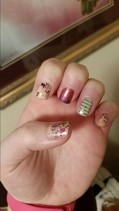 Sweet symphony,  berry blend,  and mint green and gold stripe jamberry