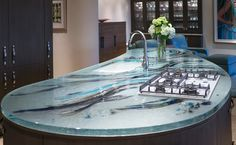 Artistic Kitchen Countertop - Thinkglass.com