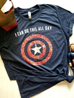 marvel clothes Captain America shirt Avengers Endgame Shirt I Can Do This 90s Grunge, Hippie Grunge, Captain America Shirt, Captain America Merchandise, Disney Shirts, Disney Outfits, Cute Outfits, Disney Tank Tops, Marvel Mode