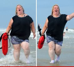 """""""Mama June Hits the Beach -- I'm Just Like Pam Anderson!!!""""...I know I'm a horrible person for this, but I could not stop laughing!!"""