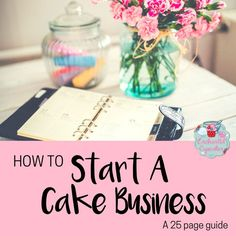 Download a full 25 page guide on how to start a cake business.   This guide includes information about what to name your cake business, how to price your cakes, how to sell cakes and who to sell them to, how to use social media to market your cake business.  Plus information on the legalities of starting a cake business, how to register with environmental health, how to deal with charity requests and other useful tips.