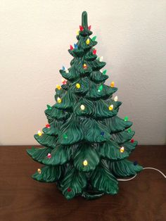 Very nice large ceramic tree, in great vintage condition, just like the one from our childhood! SylviasRetroKitsch on Etsy