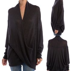 LuLu Knit Top Beautiful twins wrap draped blouse. Perfect way to dress up your day to day wear. 53% rayon 43% polyester 4% spandex. Available in small medium and large. Message me and I will create your own listing. Lewbputiquetwo Tops