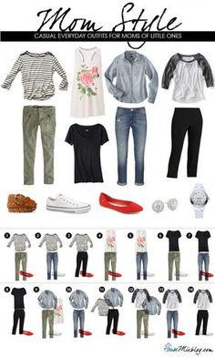 Amp up your everyday style as a mommy. Ditch the sweats and add a little style. Via House Mix Blog