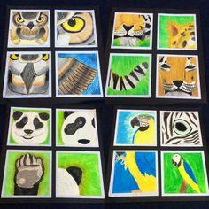 Four ways animal artwork. Fall Art Projects, Classroom Art Projects, School Art Projects, Art Classroom, Classe D'art, Creation Art, Atelier D Art, 6th Grade Art, Jr Art