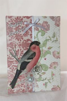 "BoBunny ""Garden Journal"" Card 6 by Helen of Helen's Card Design's. - Cards ~ Clean & Simple."