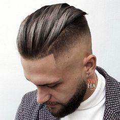 Slick Back Undercut Fade – Best Men's Hairstyles: Cool Haircuts For Men. Most Po… Slick Back Undercut Fade – Best Men's Hairstyles: Cool Haircuts For Men. Most Popular Short, Medium and Long Hairstyles For Guys Mens Hairstyles Fade, Cool Hairstyles For Men, Thin Hair Haircuts, Undercut Hairstyles, Cool Haircuts, Haircuts For Men, Short Hair Cuts, Short Hair Styles, Undercut Fade
