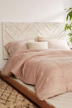 Amira Carved Wood Headboard - Urban Outfitters