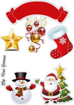 Eu amei imprimir  e colocoquei no mesversario  da minha Lelê Christmas And New Year, Christmas Paper, Christmas Time, Vintage Christmas, Merry Christmas, Holiday, Christmas Crafts, Stickers Noel, Christmas Printables