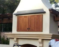 Custom Outdoor Patio TV Cabinets Mounted On The Wall