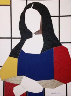 Find this artwork on Artsper: Monalisa by Carlos Gaspar Pialgata. Cubist Art, Abstract Art, Bd Pop Art, Piet Mondrian, Sewing Art, Art Moderne, Arte Pop, Contemporary Artwork, Grafik Design