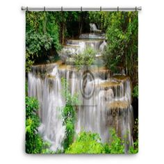 Rainbow In The Waterfall. Retro Shower Curtain | Shower Curtains, Products  And Retro