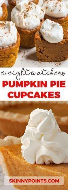 Weight Watcher Desserts, Weight Watchers Pumpkin, Plats Weight Watchers, Weight Watchers Diet, Weight Loss Meals, Weight Watchers Cupcakes, Ww Desserts, Healthy Desserts, Dessert Recipes