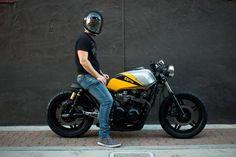Honda CB750 by Ellis Brothers 8 Cafe Racer Shop, Cafe Racer Honda, Cafe Racer Style, Custom Cafe Racer, Cafe Racer Bikes, Cafe Bike, Cafe Racer Motorcycle, Cb 500, Moto Cafe