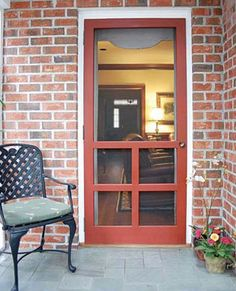 Bring on the breeze - with a screen door by Screen Tight. Wood Screen Door, Wooden Screen, Wood Doors, Screen Doors, Front Doors, Barn Doors, Screen Tight, Door Accessories, Easy Diy Projects