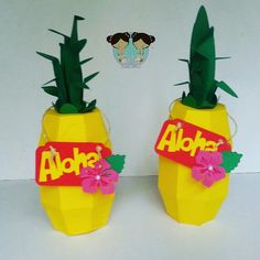 caixa abacaxi festa havaiana