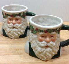 Old World Santa Mug Pair by Fohill Possible Dreams