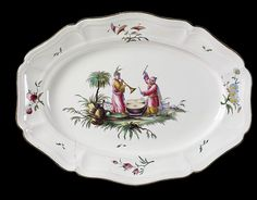 LavishShoestring.com | Dish        Place of origin:        Strassburg, France (made)      Date:        ca. 1762 - 1780 (made)      Artist/Maker:        Joseph Hannon's factory (manufacturer)      Materials and Techniques:        Tin glazed earthenware painted in enamel colours