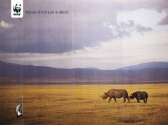Rip through with plastics/by products behind.    Image result for wwf environmental posters