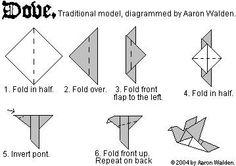 origami dove for kids - Google Search