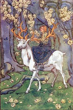The Stag, The Lily of Life - Queen of Roumania, art by Helen Stratton, 1913