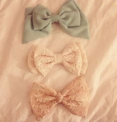 So in love with my new bows (: