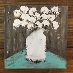 New cotton stems painting just listed in my shop!