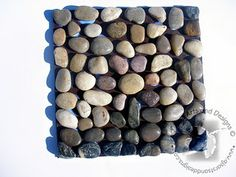river rock trivet. Cool craft for teens