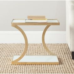 Safavieh Treasures Sullivan Gold/ White Top Accent Table | Overstock™ Shopping - Great Deals on Safavieh Coffee, Sofa & End Tables