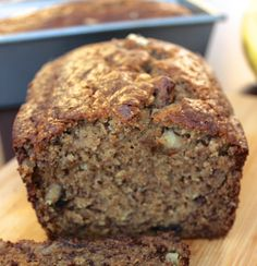This whole wheat banana nut bread is lightened up by swapping half of the oil for unsweetened applesauce, reducing the amount of sugar, and subbing in. Janet's Rich Banana Bread Recipe, Banana Nut Bread Healthy, Carrot Bread Recipe, Whole Wheat Banana Bread, Banana Walnut Bread, Banana Bread Recipes, Carrot Muffins, Oatmeal Muffins, Cooking Bread